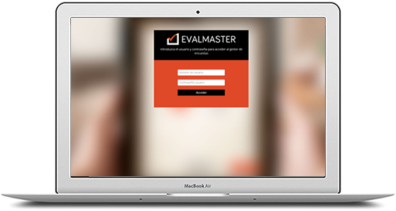 Use Evalmaster anywhere logging in with your user and password